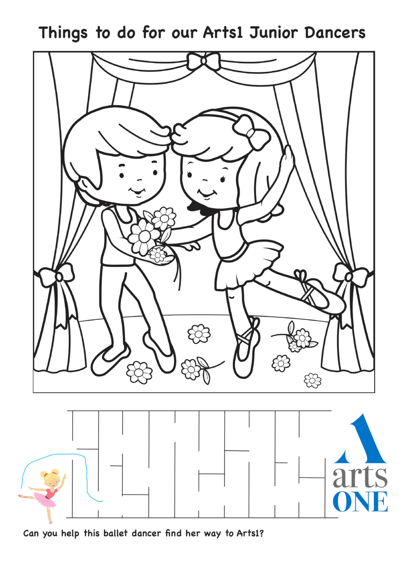 Arts1 Resource Preview: Junior Activity Sheet